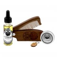 Beard Care Kit Oil, Balm & Comb - Brave 'O' Cado