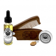 Beard Care Kit Oil, Balm & Comb - Woody Wood Smasher