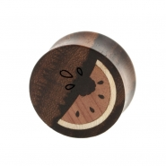 Watermelon Inlay plugs - Sono Wood