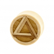 Penrose Triangle Plugs - Crocodile Wood