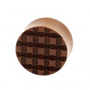 Circle Pattern Plugs - Sawo Wood