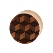 3D Cube Plugs - Sawo Wood
