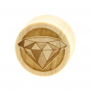Diamond Plugs  - Crocodile Wood
