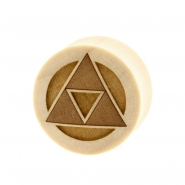 Triforce Plugs  - Crocodile Wood