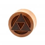 Triforce Plugs  - Sawo Wood
