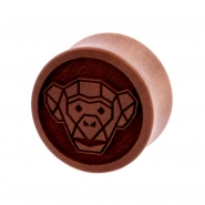 Sawo Geometric Animal Plug - Monkey