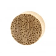 Teak Japanese Pattern Plugs - Sakura