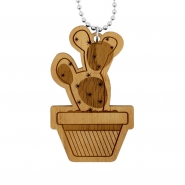 Cactus Necklace - Cactus In Pot