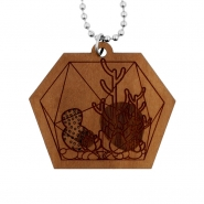 Cactus Necklace - Hexagon Terrarium