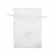 Satin Pouch - Diamond