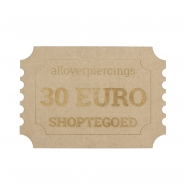 30 Euro Store credit